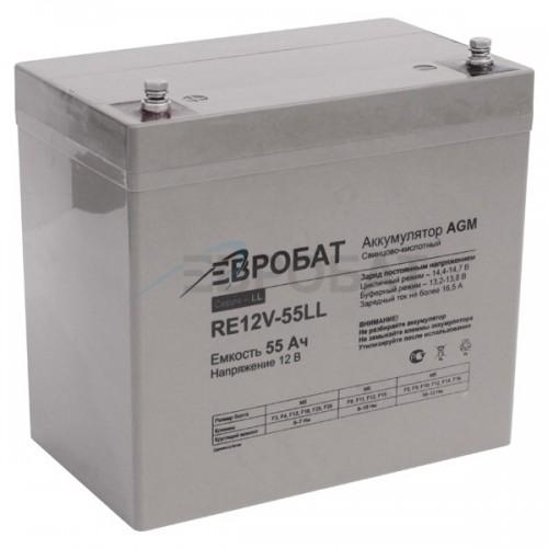 АКБ EUROBAT RE12V-55LL