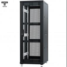 """Шкаф 37U 600x600x1765мм (ШхГхВ) телекоммуникационный 19"""" напольный, передняя дверь перфорированная - задняя дверь перфорированная"""