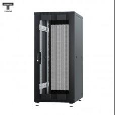 """Шкаф 27U 600x800x1320мм (ШхГхВ) телекоммуникационный 19"""" напольный, передняя дверь перфорированная - задняя дверь перфорированная"""
