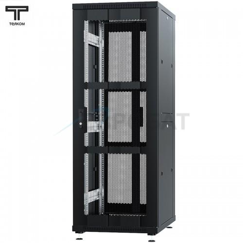 """Шкаф 42U 600x1000x1987мм (ШхГхВ) телекоммуникационный 19"""" напольный, передняя дверь перфорированная - задняя дверь распашная 2-х створчатая"""