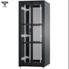 """Шкаф 47U 600x1200х2209мм (ШхГхВ) телекоммуникационный 19"""" напольный, передняя дверь перфорированная распашная 2-х створчатая - задняя дверь перфорированная"""