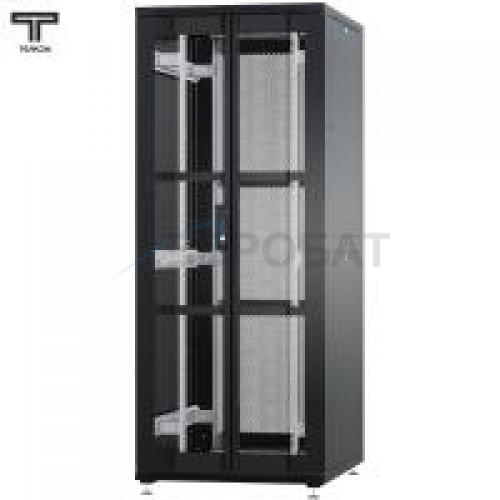 """Шкаф 47U 600x800х2209мм (ШхГхВ) телекоммуникационный 19"""" напольный, передняя дверь перфорированная распашная 2-х створчатая - задняя дверь перфорированная"""