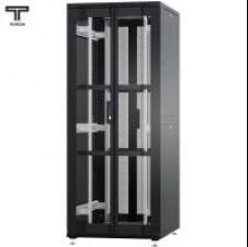 """Шкаф 42U 800x1000х1987мм (ШхГхВ) телекоммуникационный 19"""" напольный, передняя дверь перфорированная распашная 2-х створчатая - задняя дверь перфорированная распашная (2-х створчатая)"""