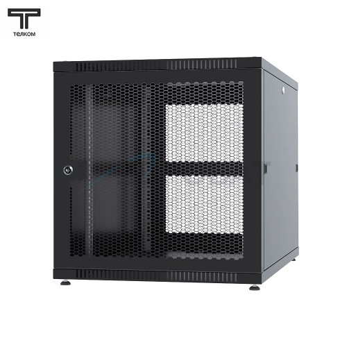 """Шкаф 12U 600x1000x620мм (ШхГхВ) телекоммуникационный 19"""" напольный, передняя дверь перфорированная-задняя перфорированная панель съёмная"""